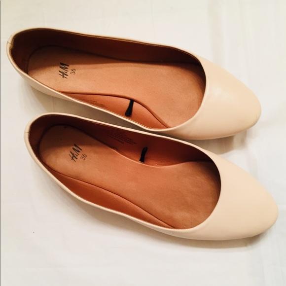de7d0eeee H&M Shoes | Ballet Flats By Hm Cream Color Flats Like New 55 | Poshmark